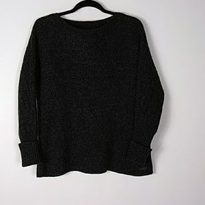 Woolrich Sweaters - Black wool sweater with flared hem